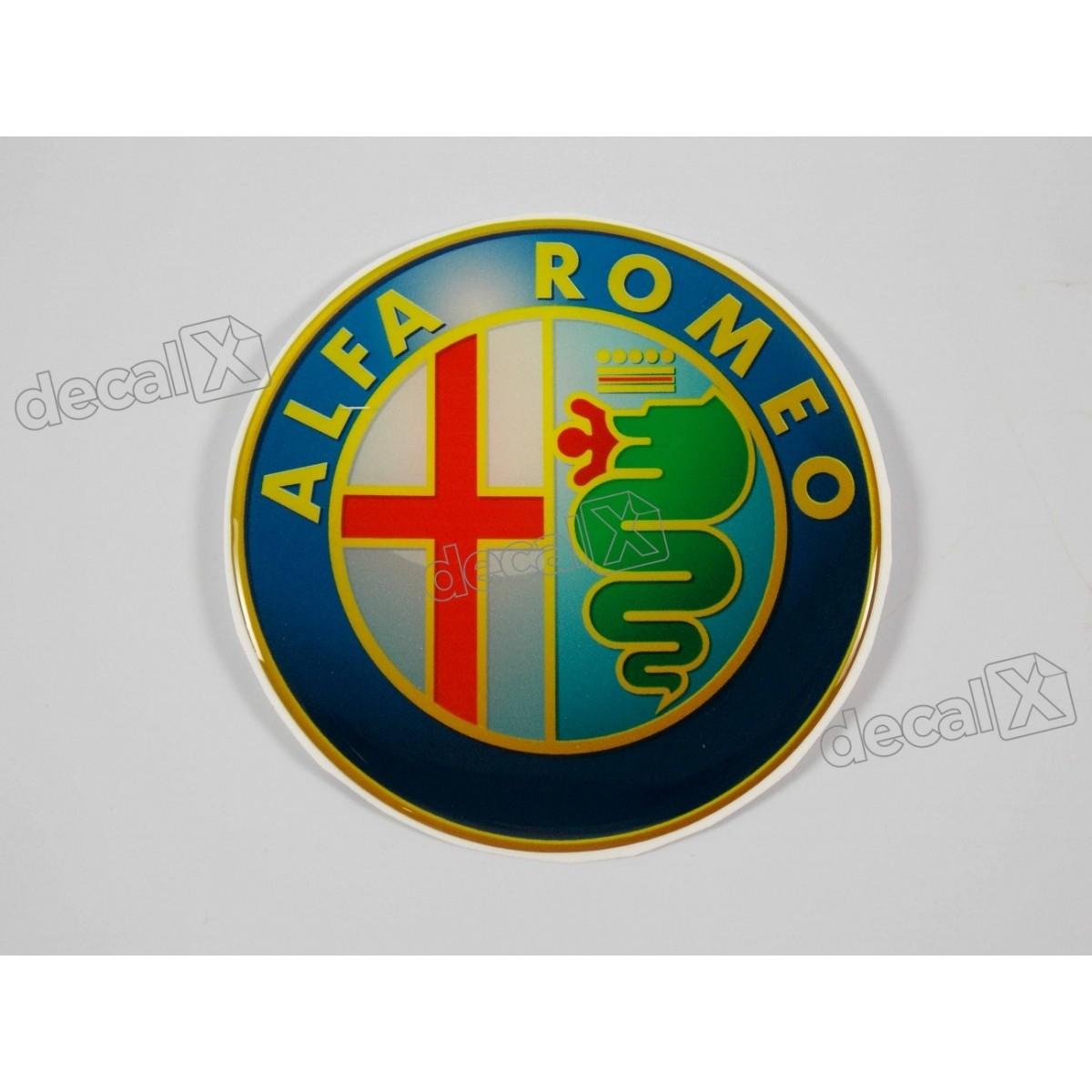 Emblema Adesivo Resinado Alfa Romeo Res1