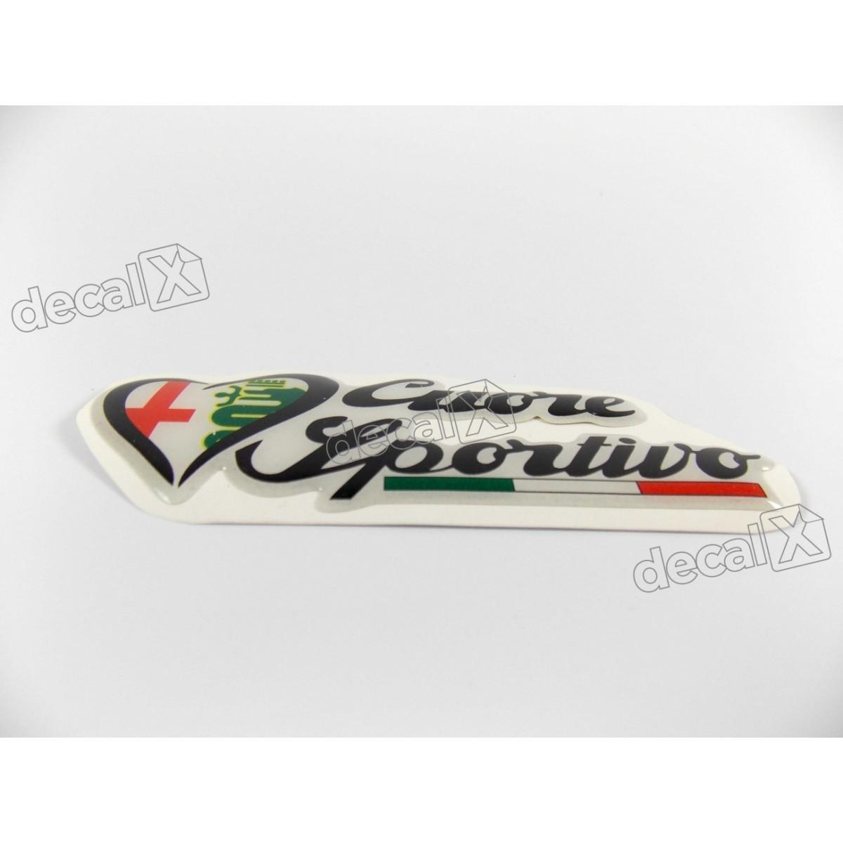 Emblema Adesivo Resinado Alfa Romeo Res3