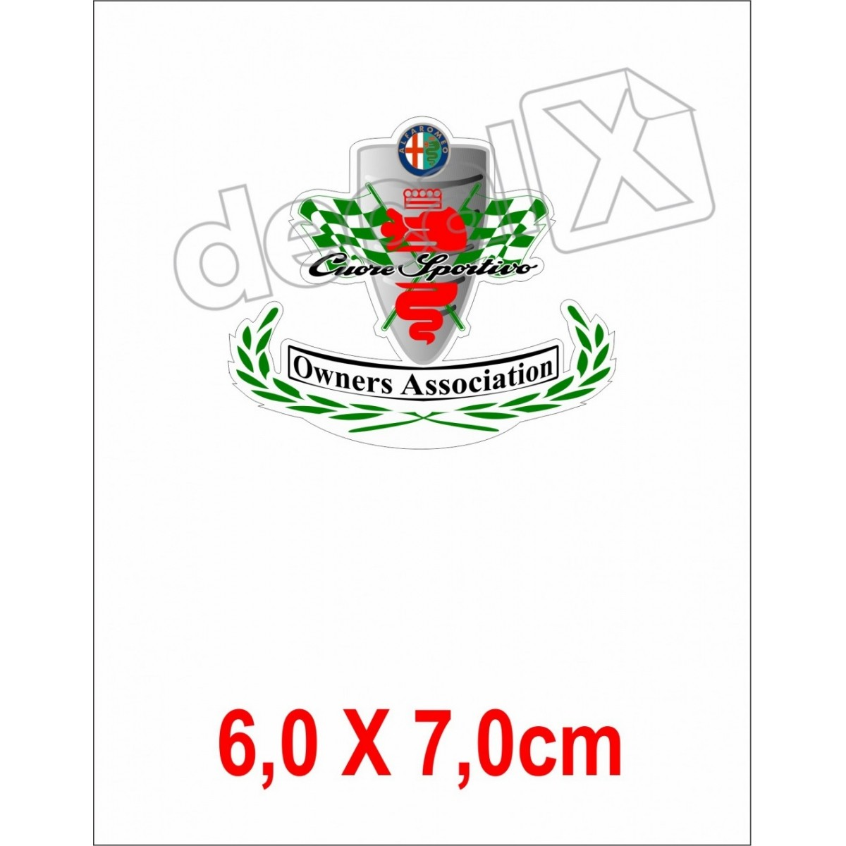 Emblema Adesivo Resinado Alfa Romeo Res5