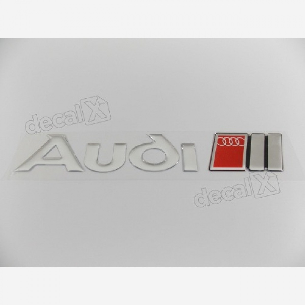Emblema Adesivo Resinado Audi Cromado Res14