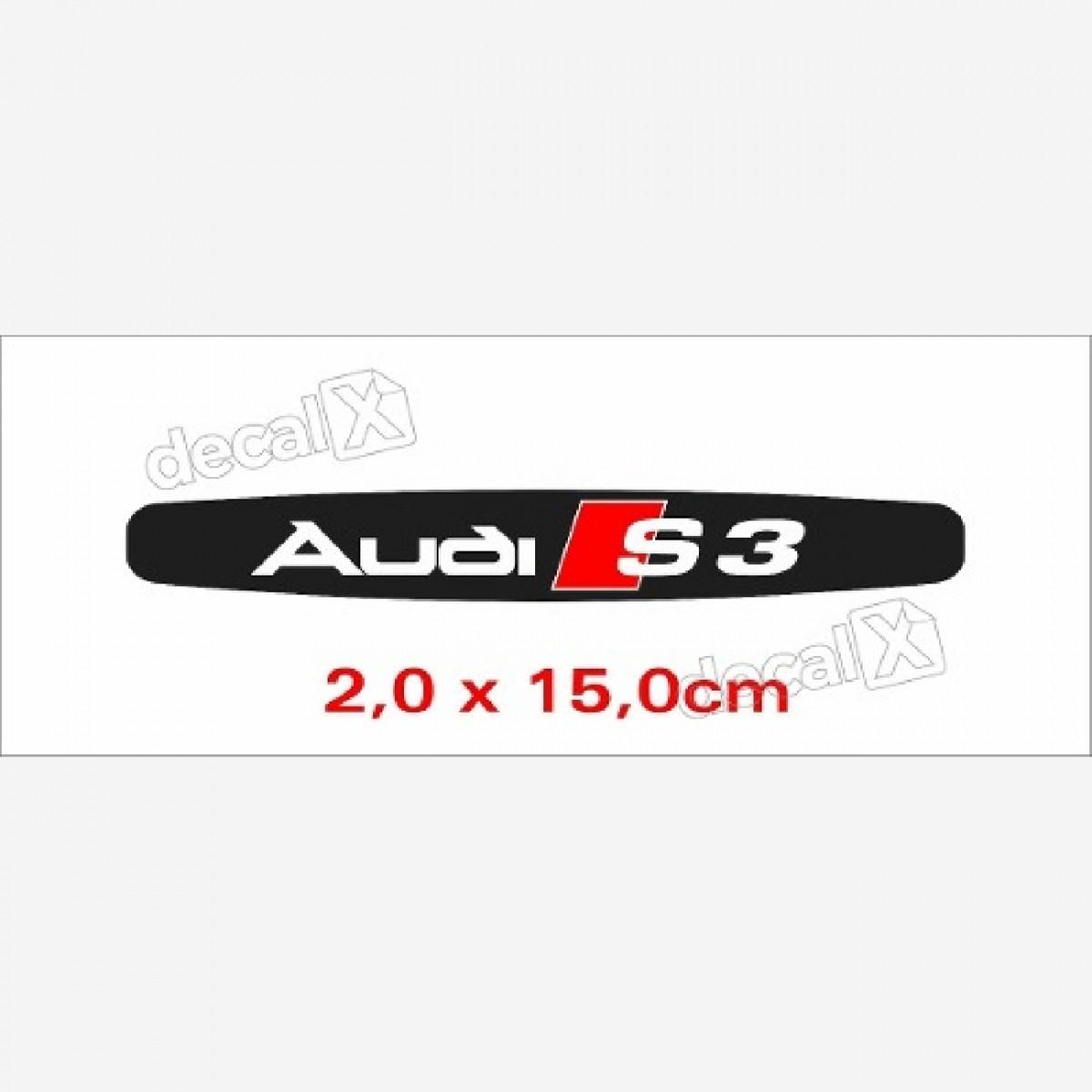 Emblema Adesivo Resinado Audi S3 Res7