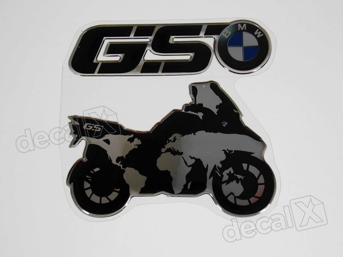 Emblema Adesivo Resinado Bmw GS 10x9 Cms Decalx