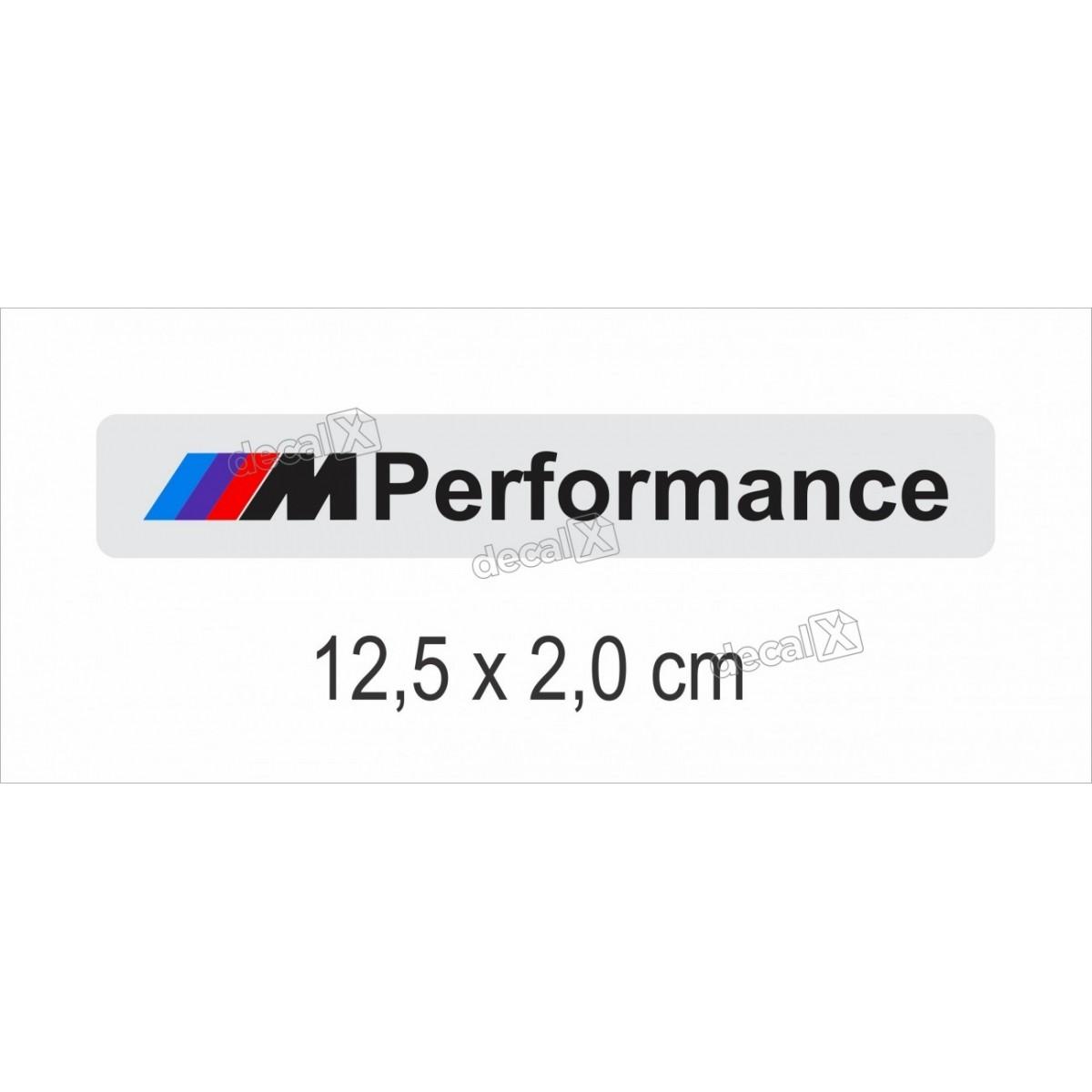 Emblema Adesivo Resinado Bmw Performance Cromado Decalx