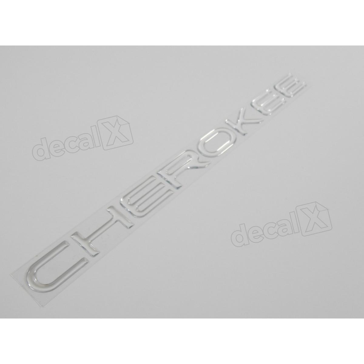 Emblema Adesivo Resinado Cherokee Cromado - Decalx