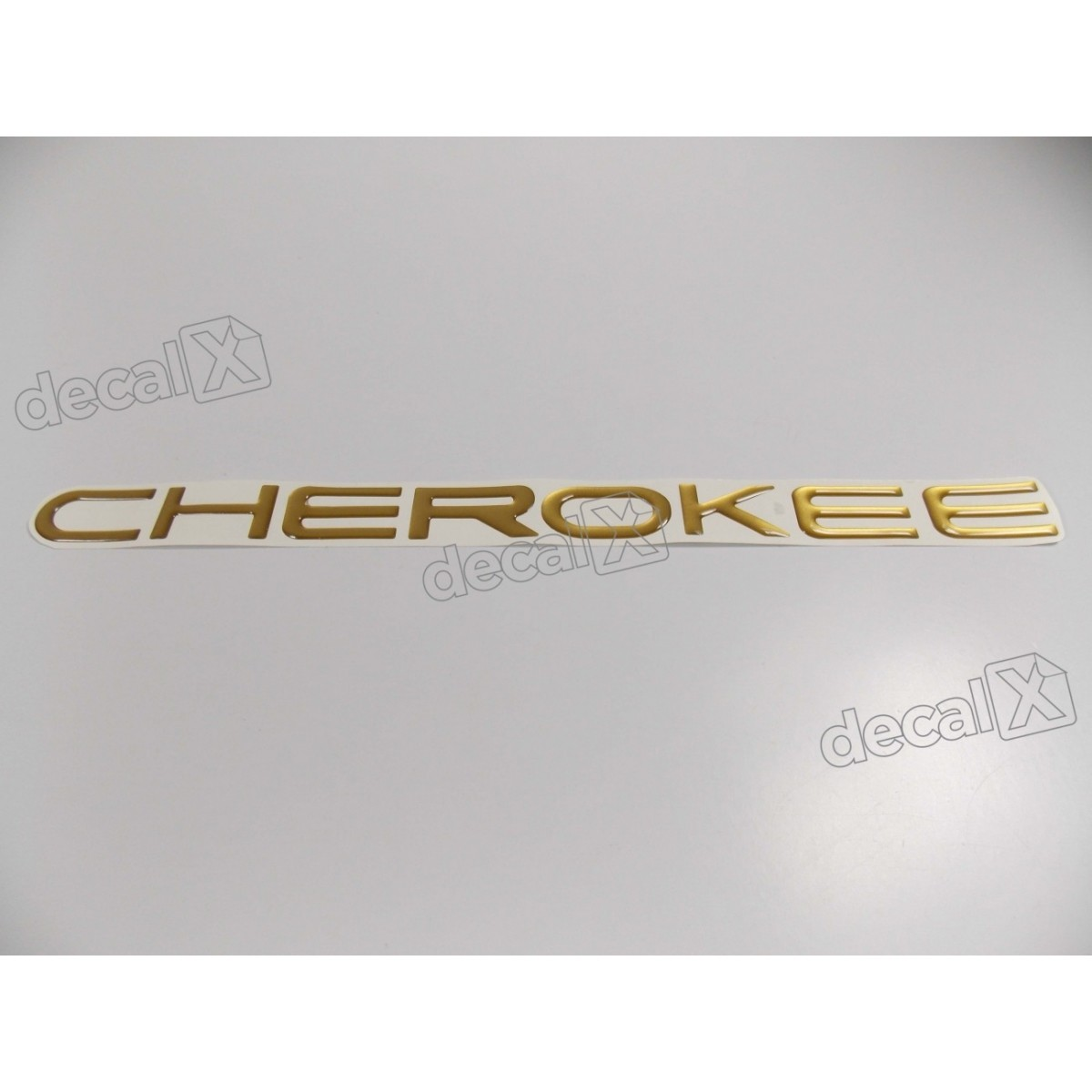 Emblema Adesivo Resinado Cherokee Dourado - Decalx