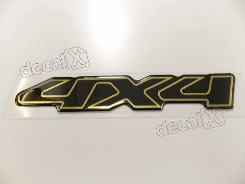 Emblema Adesivo Resinado Chevrolet S10 4x4 2000 Prata