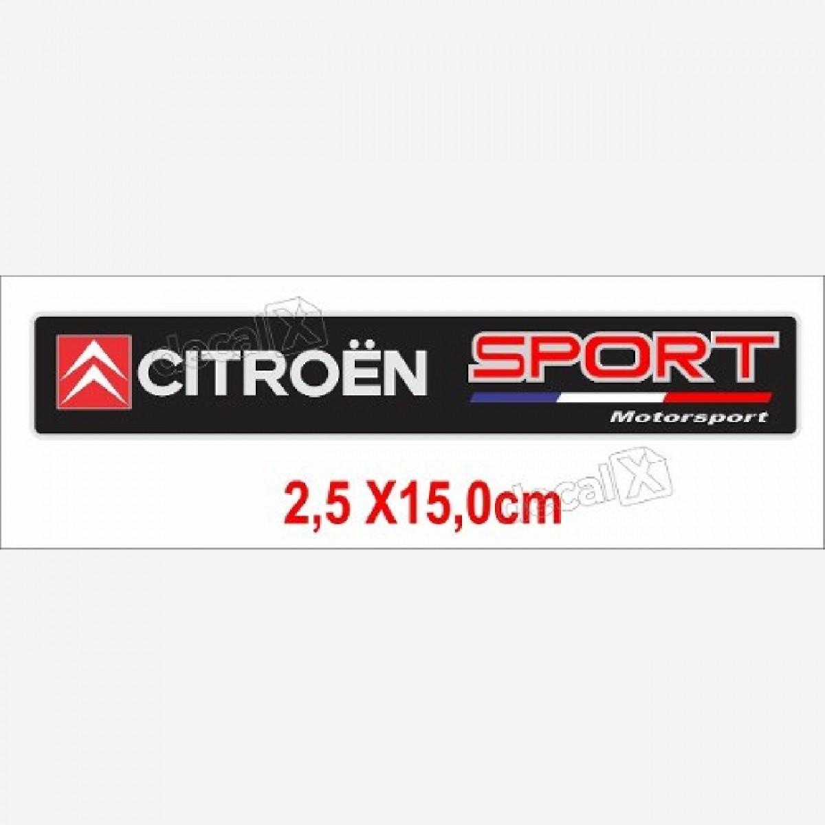 Emblema Adesivo Resinado Citroen Motorsport Decalx