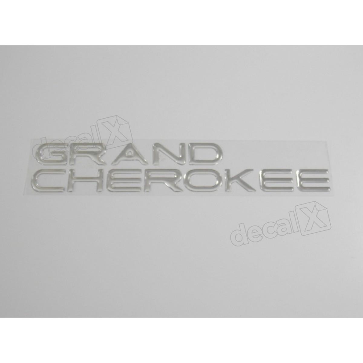 Emblema Adesivo Resinado Gran Cherokee Cromado - Decalx