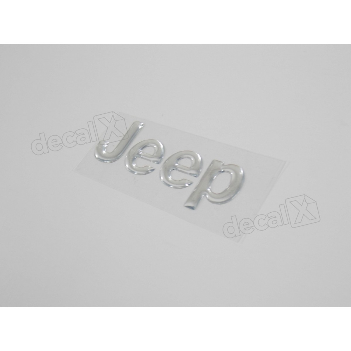 Emblema Adesivo Resinado Jeep Cherokee Cromado - Decalx
