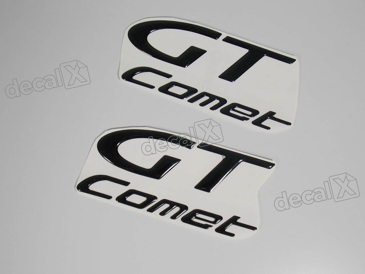 Emblema Adesivo Resinado Kasinski Comet Gt Par Decalx