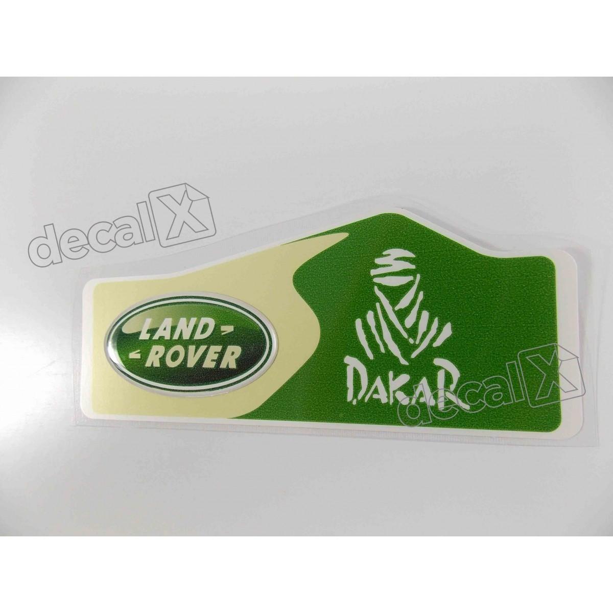 Emblema Adesivo Resinado Land Rover Dakar 4,8x12cm div2