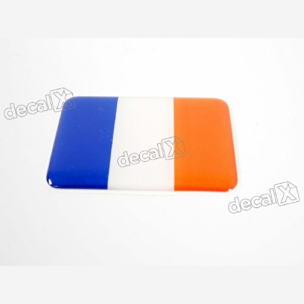 Emblema Resinado Citroen Bandeira França Decalx