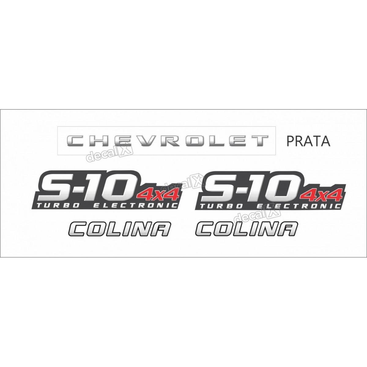 Faixa Adesivo Chevrolet S10 Colina 4x4 2009 A 2011 Prata
