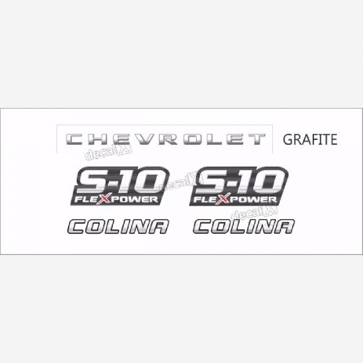 Faixa Adesivo Chevrolet S10 Colina Flex 2009 A 2011 Grafite