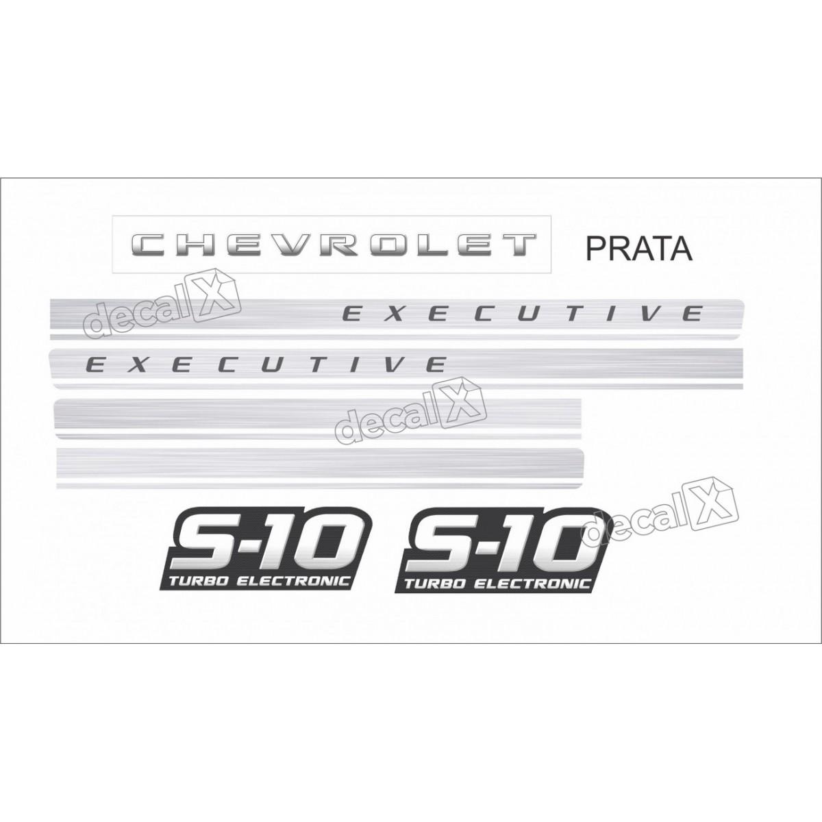 Faixa Adesivo Chevrolet S10 Executive Turbo 2009 2011 Prata