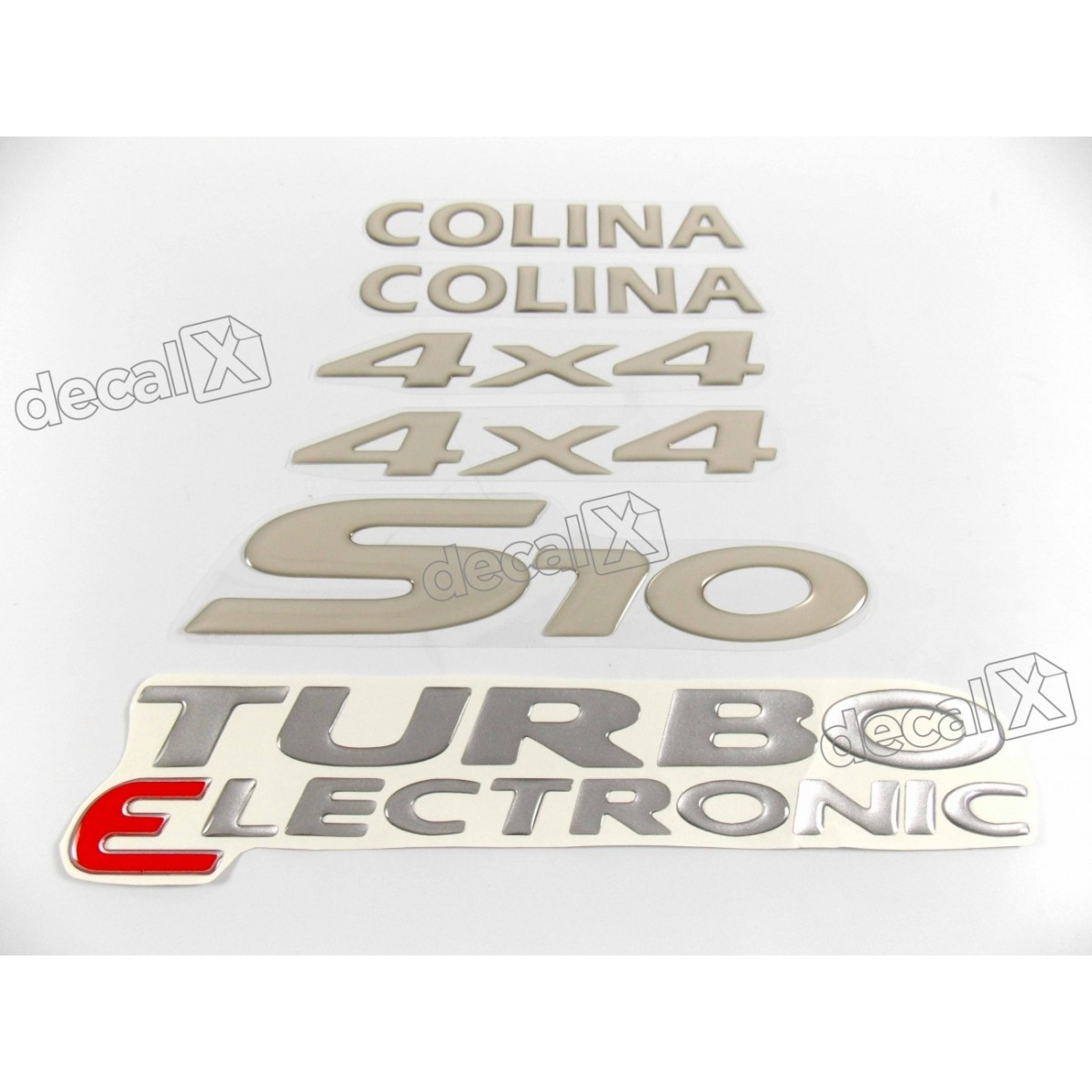 Jogo Emblema Adesivo Resinado S10 Colina 4x4 Kitr18