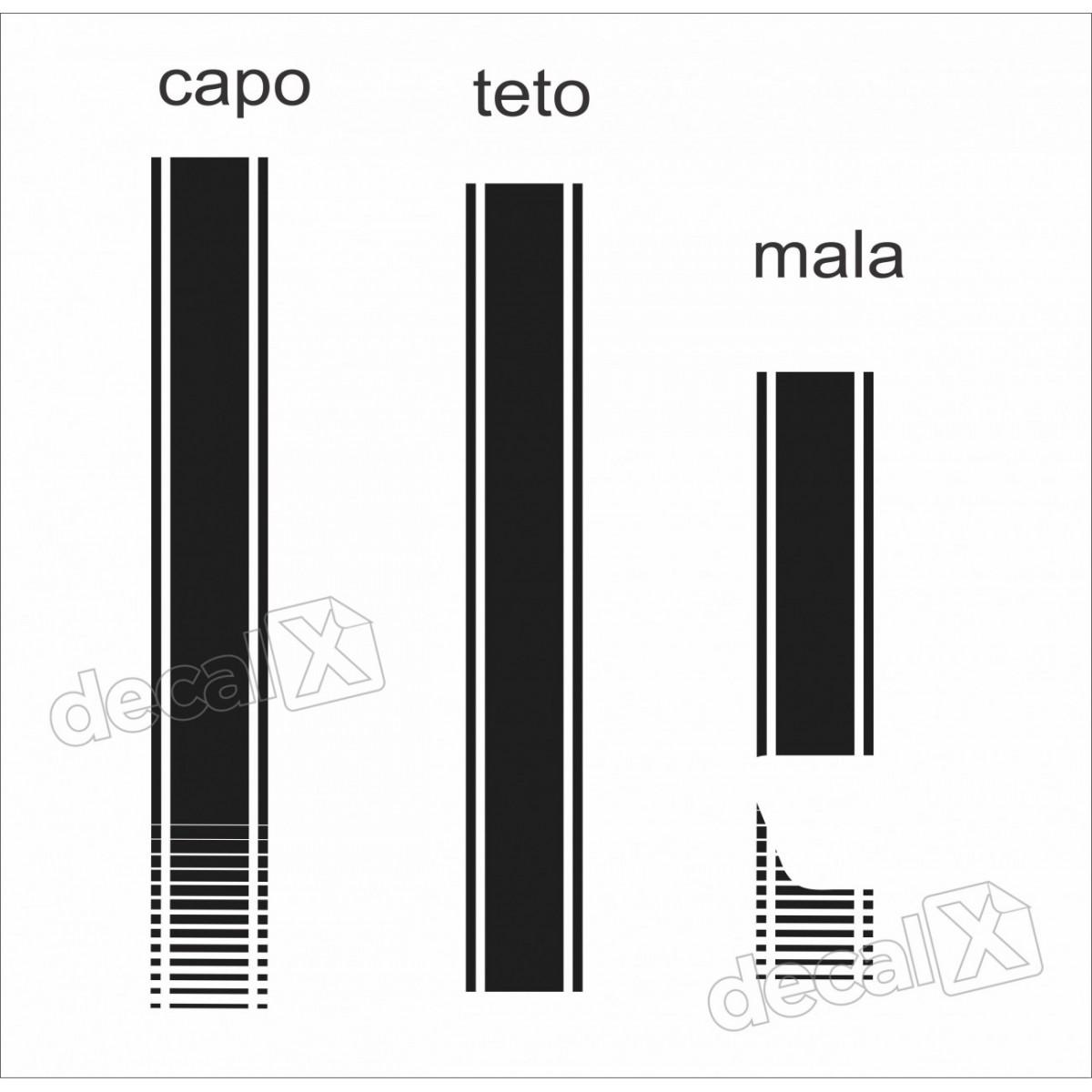 Kit Adesivo Capo, Teto E Mala Mercedes Classe A 3m A2