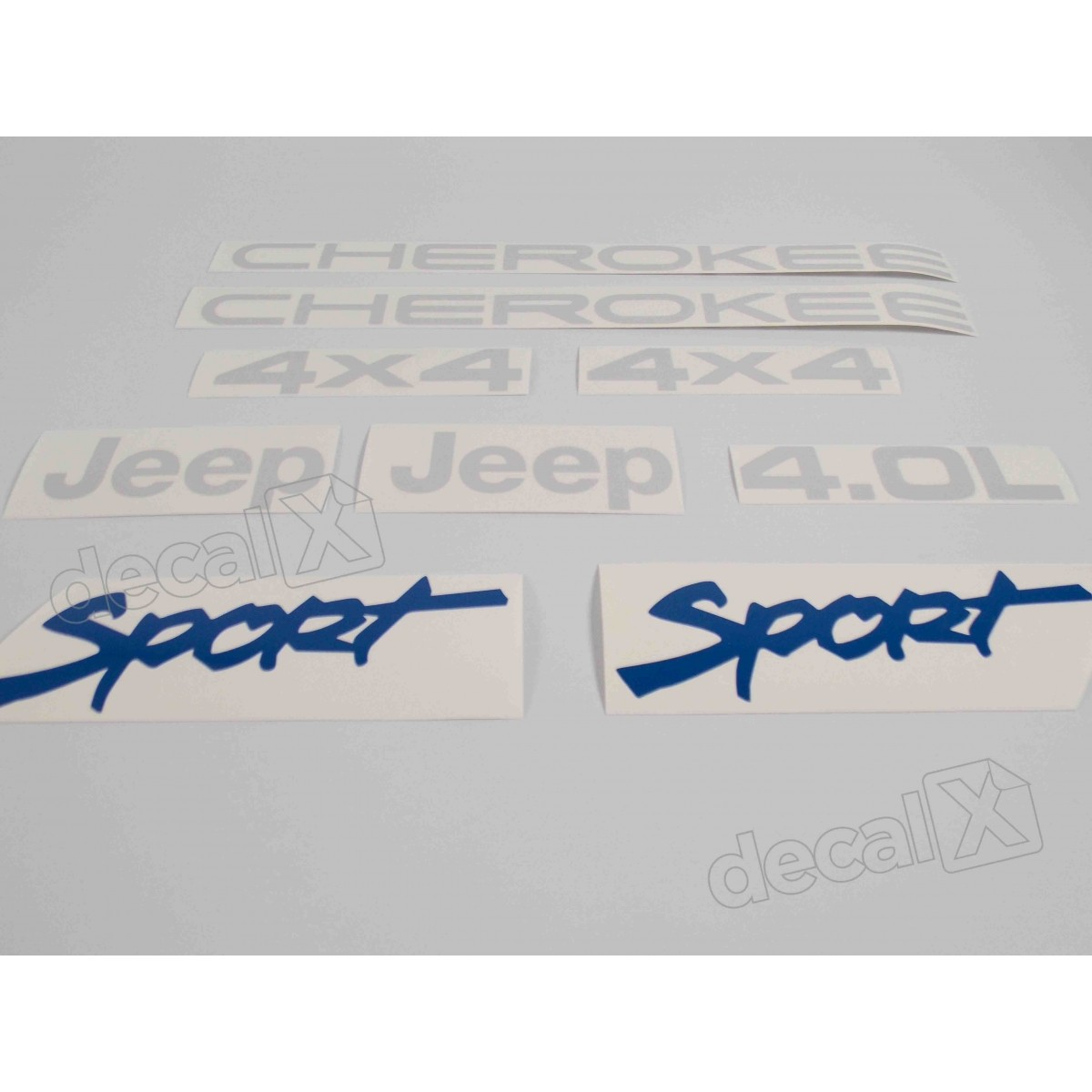 Kit Adesivo Cherokee 4x4 4.0l Sport - Decalx