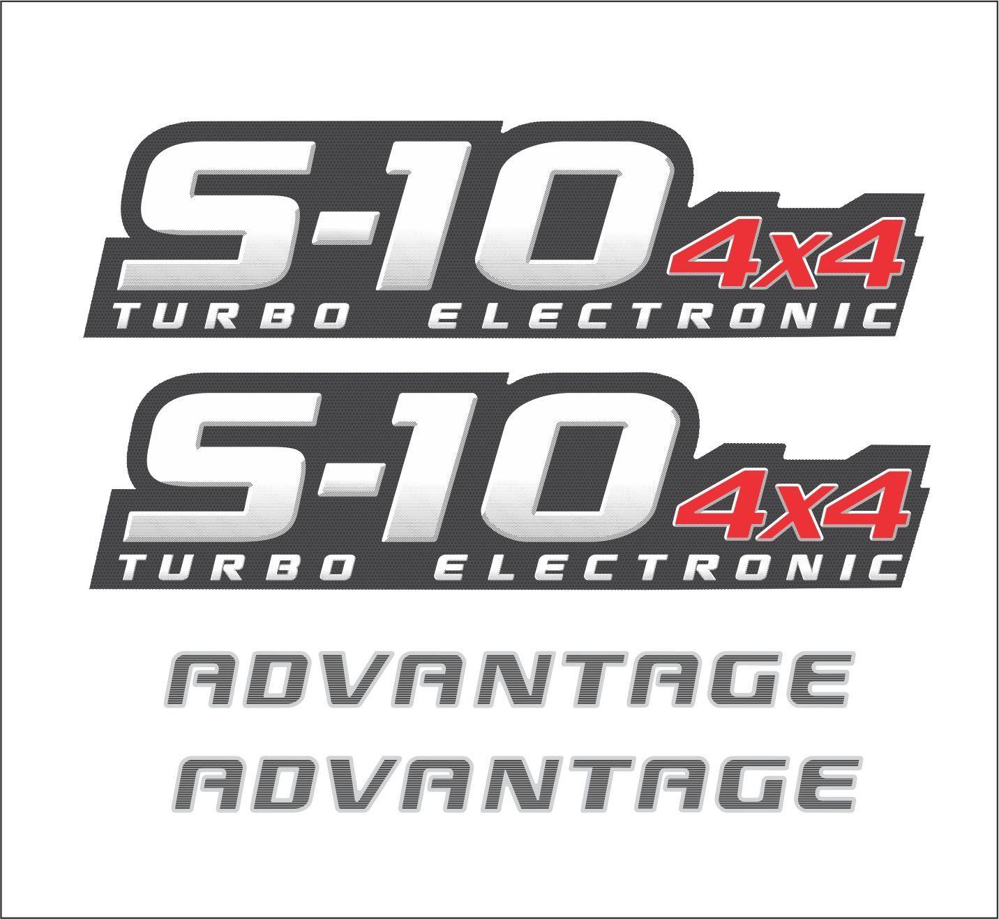 Kit Adesivo Chevrolet S10 Advantage 4x4 2009 A 2011 S10kit21