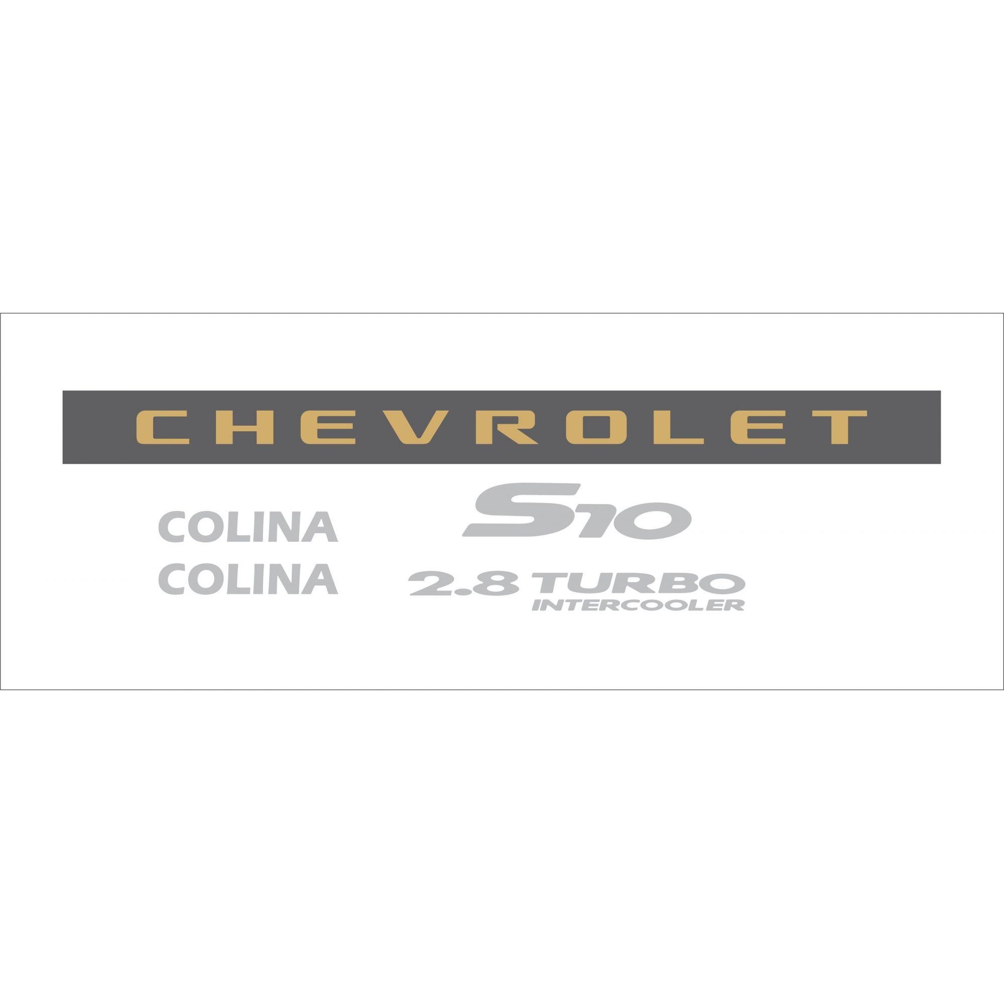 Kit Adesivo Chevrolet S10 Colina 2006 Prata S10kit45