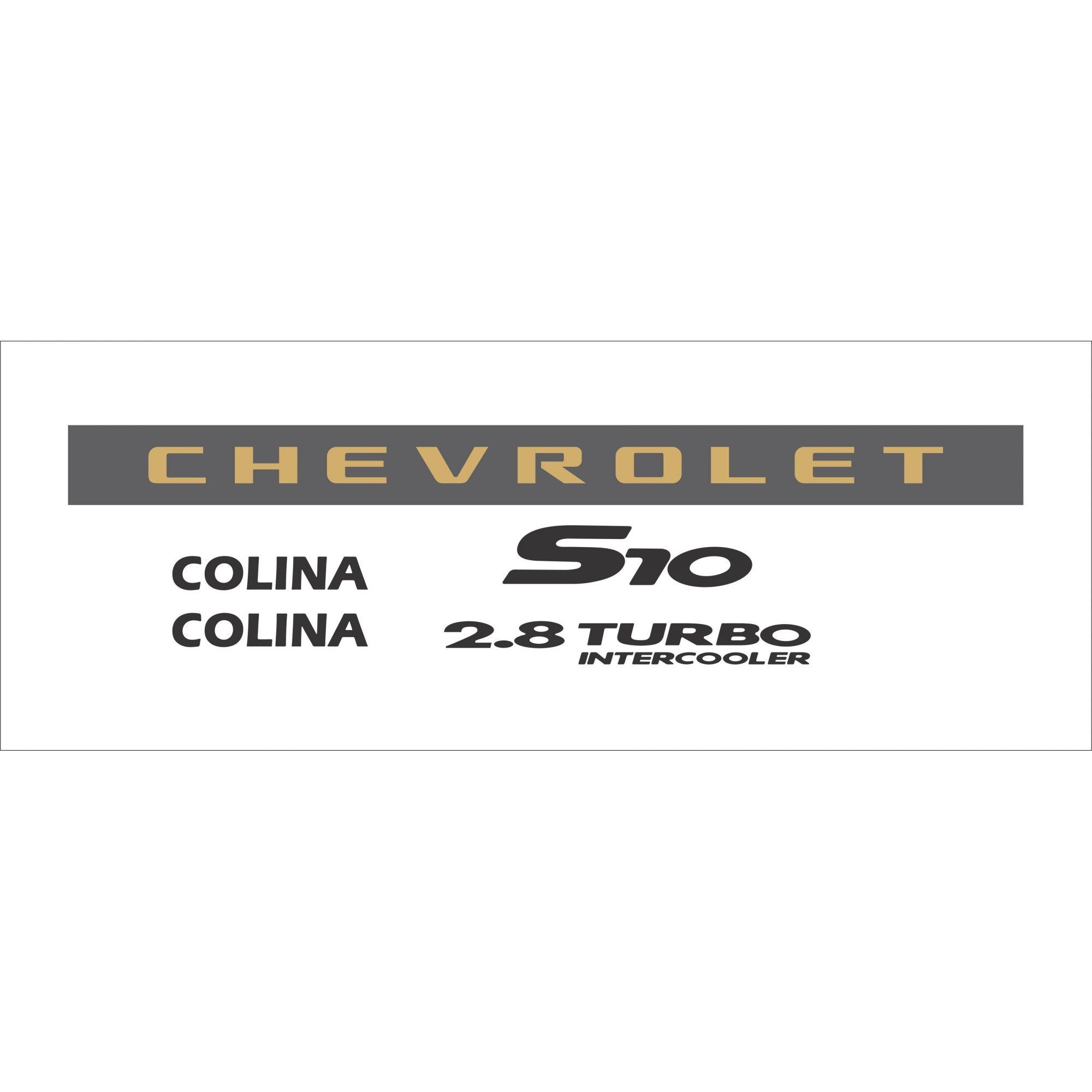 Kit Adesivo Chevrolet S10 Colina 2006 Preto S10kit43