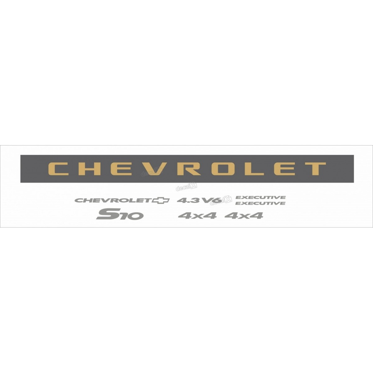 Kit Adesivo Chevrolet S10 Exec. 4.3v6 2006 A 2008 S10kit73