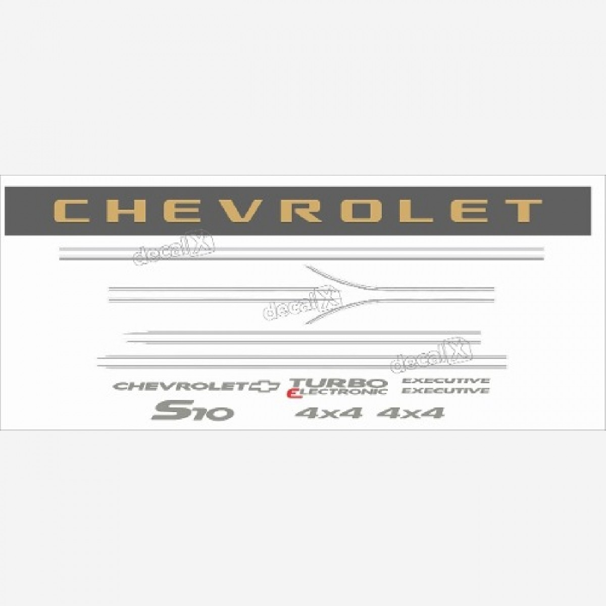 Kit Adesivo Chevrolet S10 Exec.turbo Eletronic 2006 A 2008