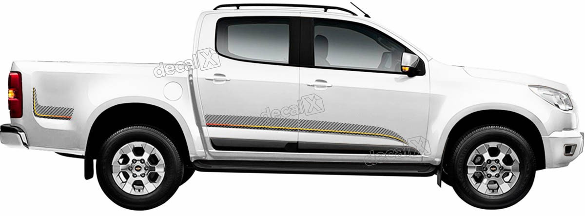Kit Adesivo Faixa Chevrolet S10 Personalizado S10b06