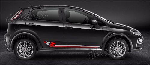 Kit Adesivo Faixa Lateral E Mala Fiat Punto Pntof16
