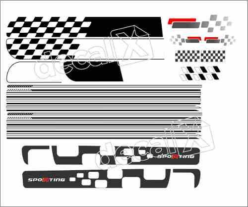 Kit Adesivo Faixa Lateral Fiat Uno Sporting 4 Portas Unsptg4