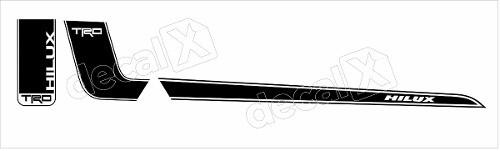 Kit Adesivo Faixas Laterais Toyota Hilux Trd Hlxpt