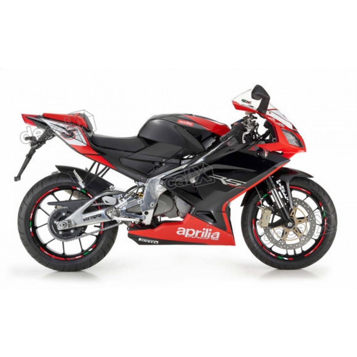 Kit Adesivo Friso Refletivo Roda Moto Aprilia Fri04 Decalx
