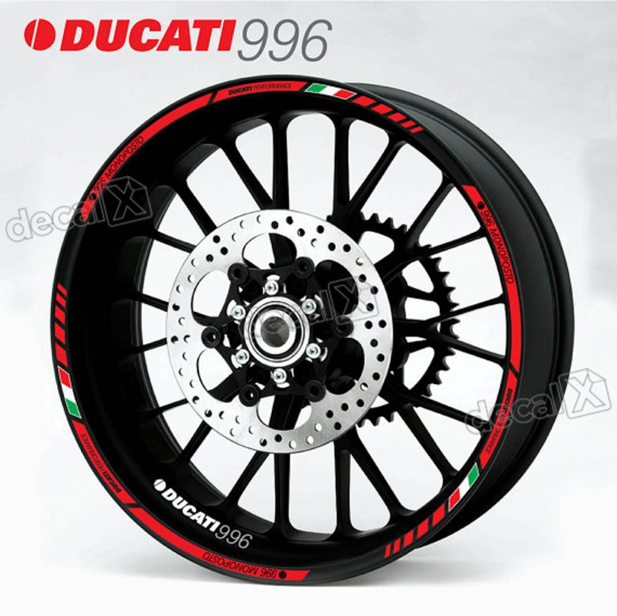 Kit Adesivo Friso Refletivo Roda Moto Ducati 996 Fri27
