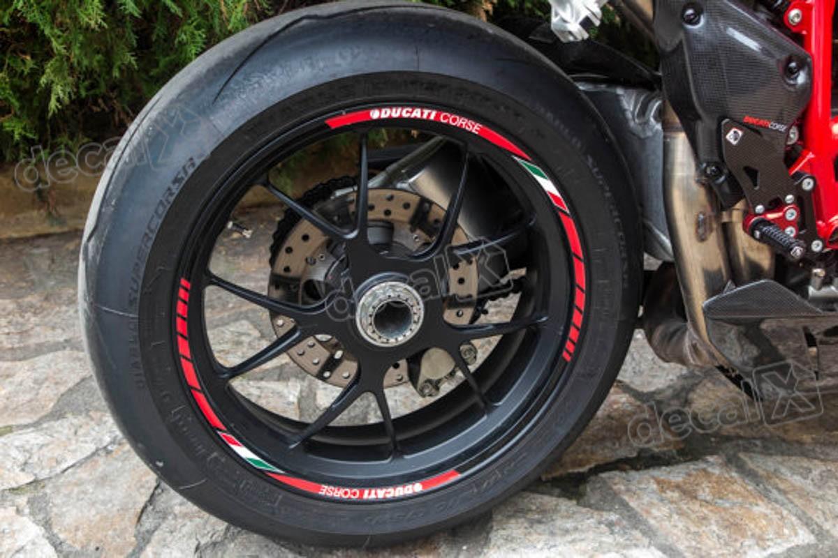Armario De Parede Pequeno ~ Kit Adesivo Friso Refletivo Roda Moto Ducati Corse Fri25 Adesivos para motos& Adesivos