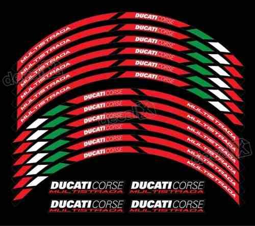 Kit Adesivo Friso Refletivo Roda Moto Ducati Corse Fri26