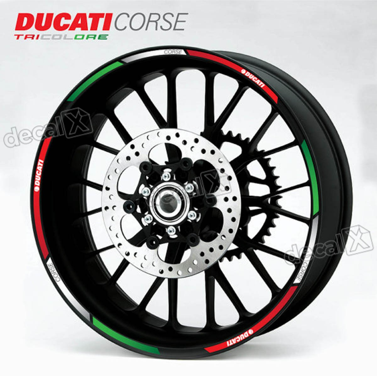 Kit Adesivo Friso Refletivo Roda Moto Ducati Fri29 Decalx