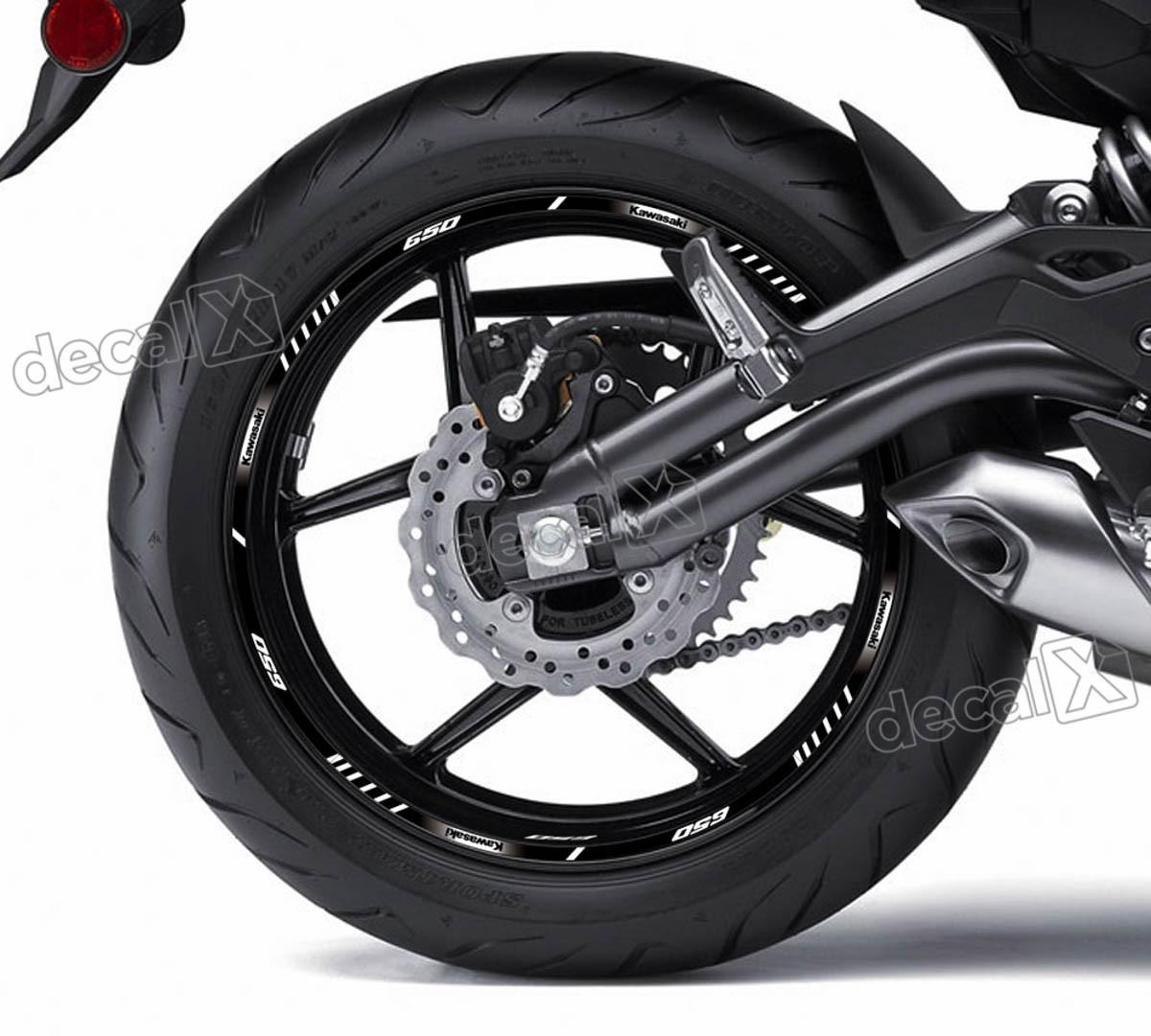 Armario De Parede Pequeno ~ Kit Adesivo Friso Refletivo Roda Moto Kawasaki 650 Fri83 Adesivos para motos& Adesivos