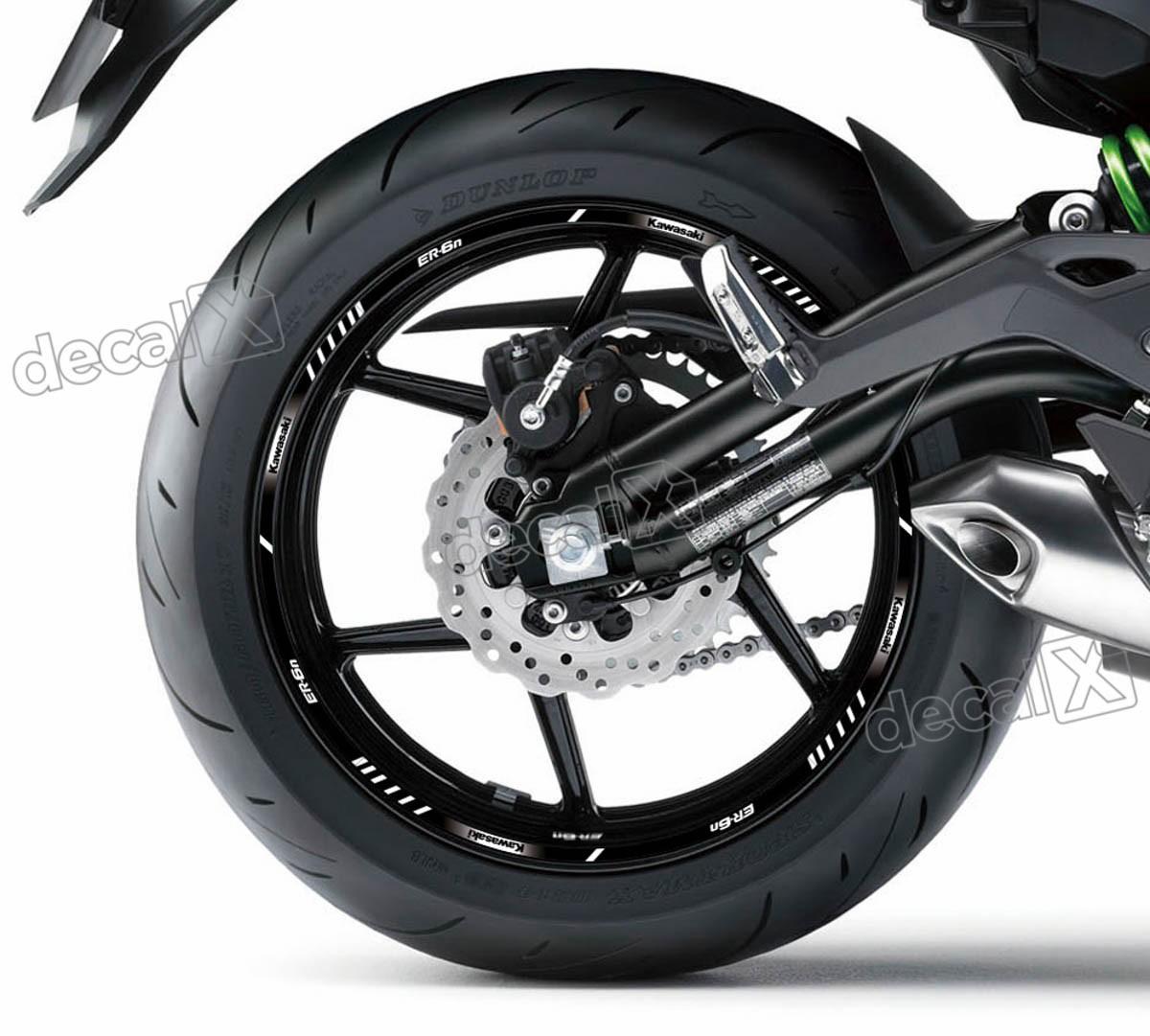 Armario De Parede Pequeno ~ Kit Adesivo Friso Refletivo Roda Moto Kawasaki Er 6 Fri85 Adesivos para motos& Adesivos
