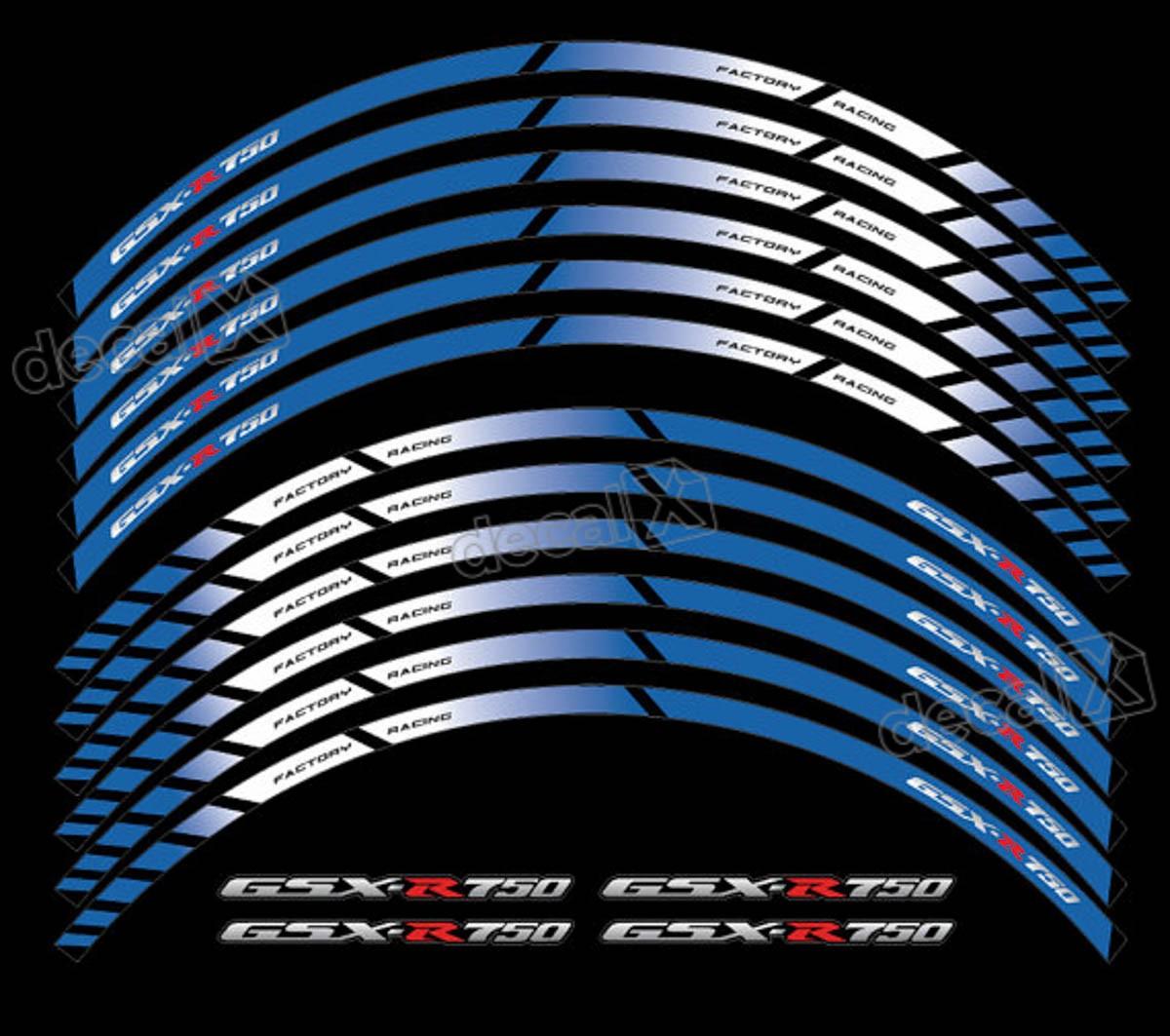 Armario De Parede Pequeno ~ Kit Adesivo Friso Refletivo Roda Moto Suzuki Gsxr 750 Fri48 Adesivos para motos& Adesivos