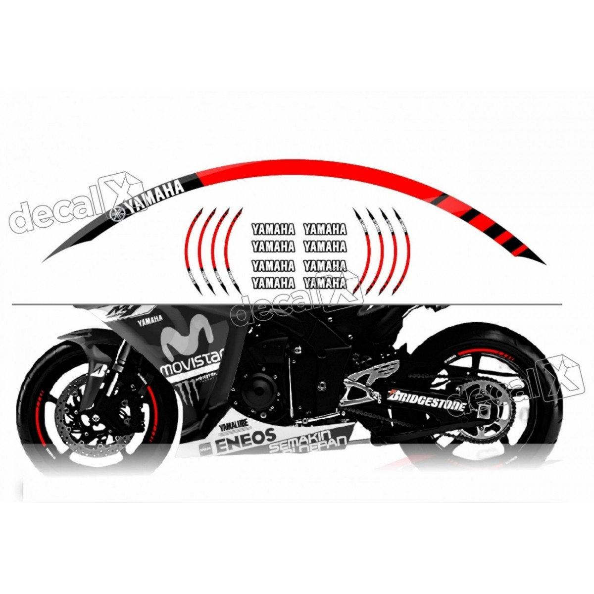 Armario De Parede Pequeno ~ Kit Adesivo Friso Refletivo Roda Moto Yamaha Fri23 Adesivos para motos& Adesivos automotivos