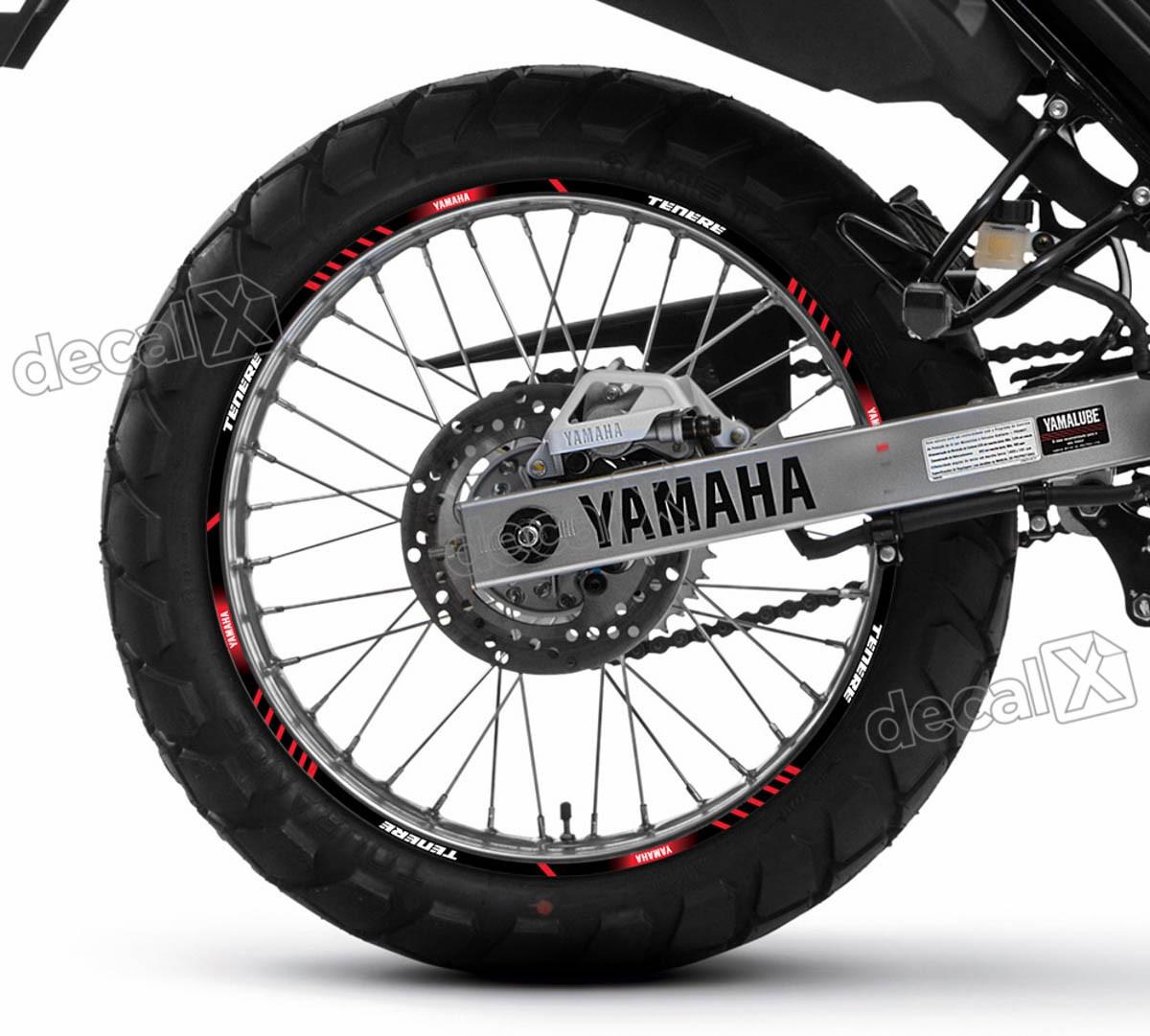 Kit Adesivo Friso Refletivo Roda Moto Yamaha Tenere 250 Fr55 Adesivos para motos& Adesivos