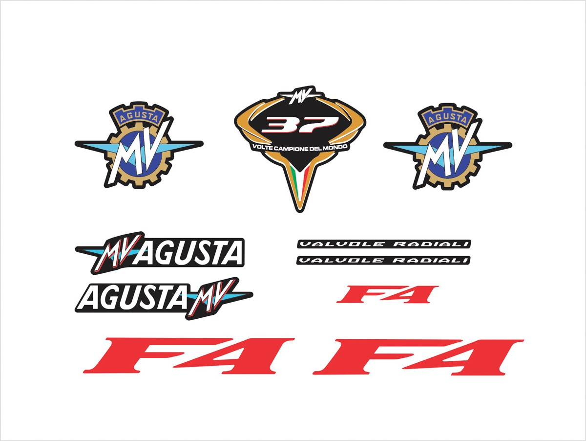 Kit Adesivo Mv Agusta F4 Preta Ag017