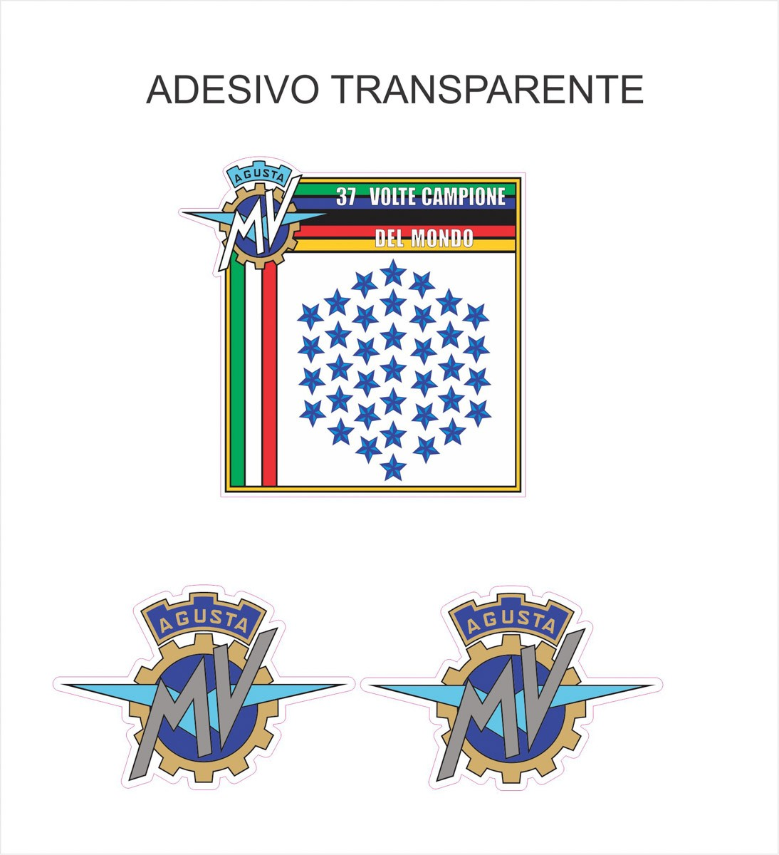 Kit Adesivo Mv Agusta F4 Tanque Vermelho Ag021