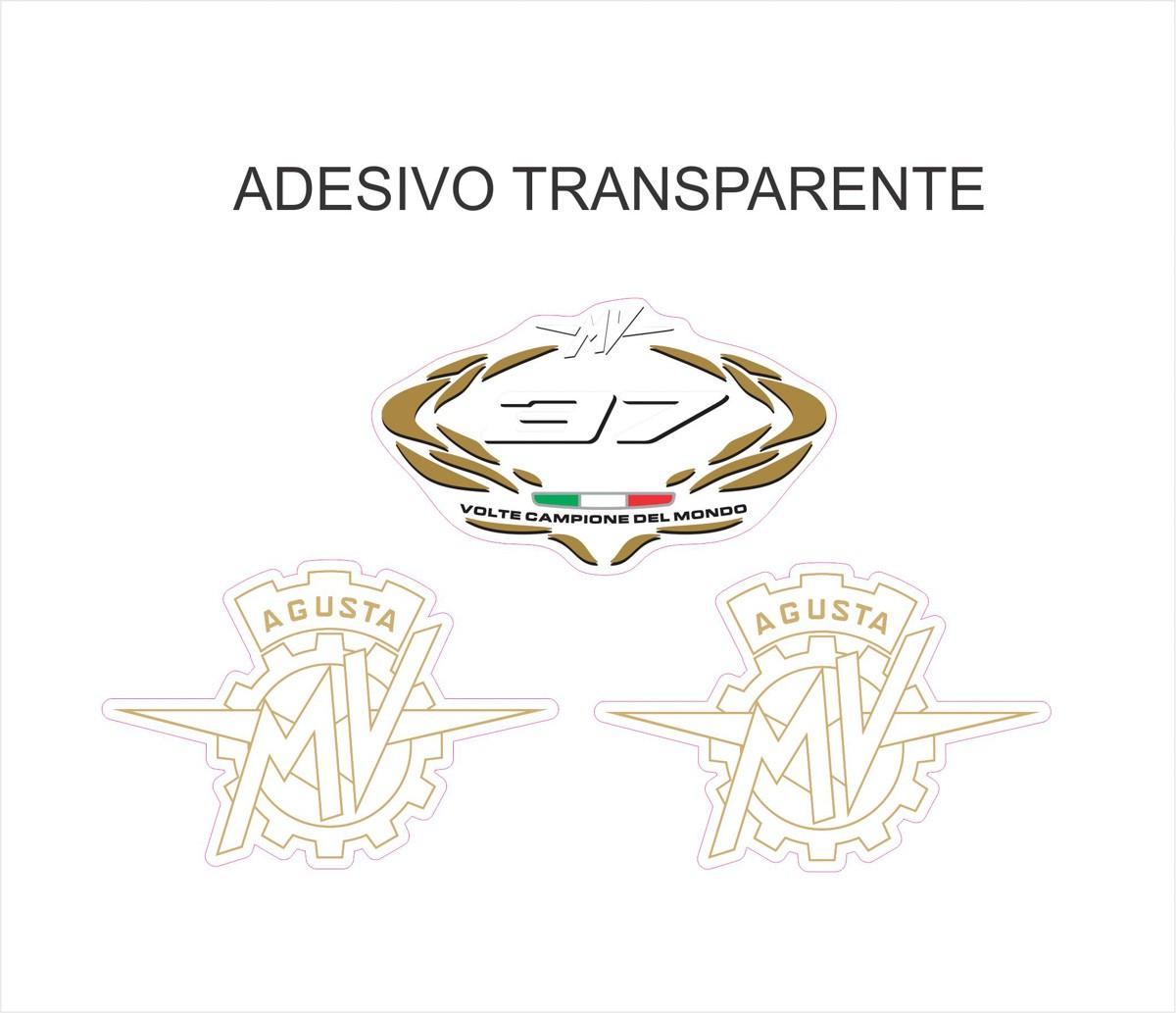 Kit Adesivo Mv Agusta F4 Tanque Vermelho Ag022