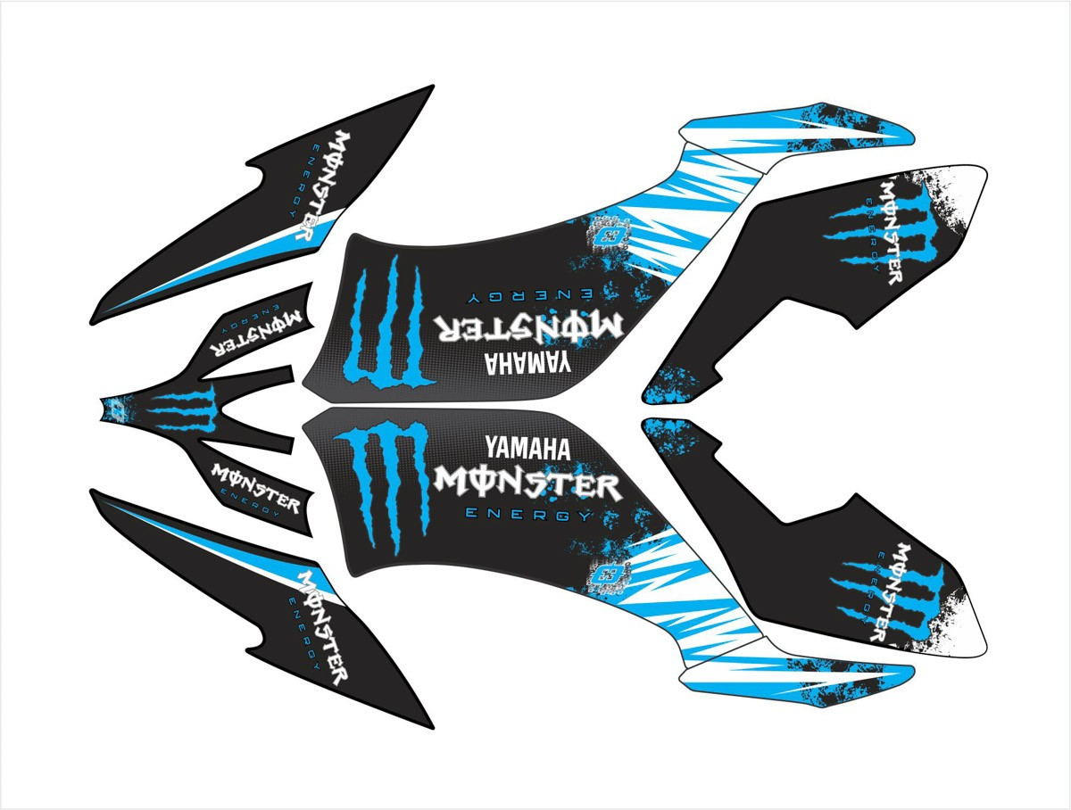 Kit Adesivo Quadriciclo Yamaha Raptor 250 2009 0,60mm 3m 016