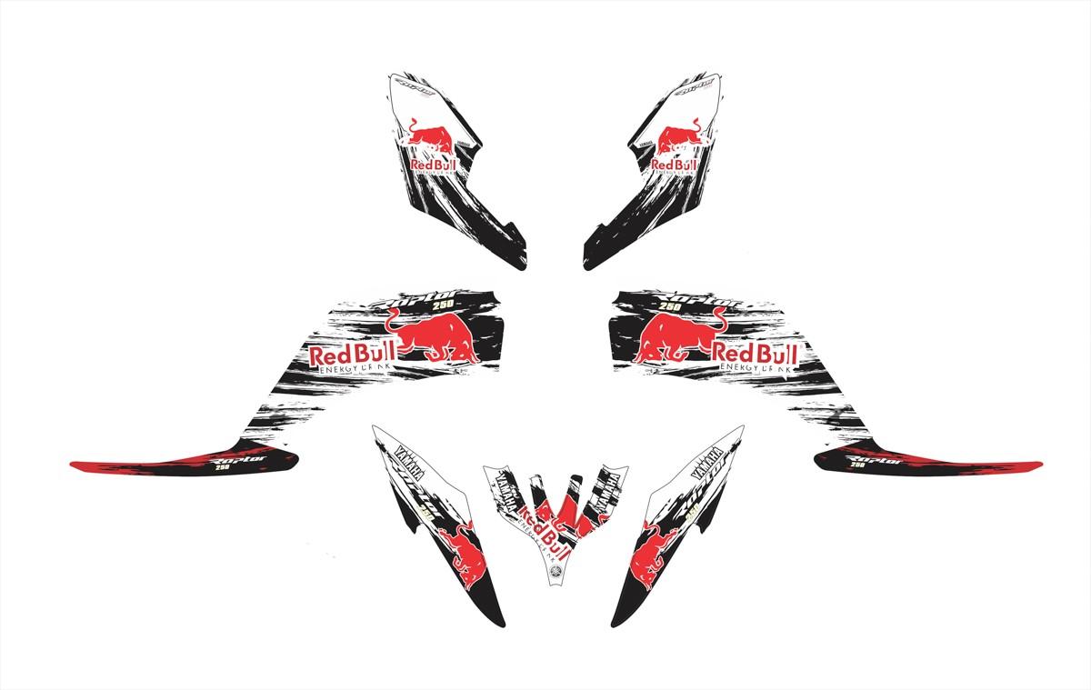 Kit Adesivo Quadriciclo Yamaha Raptor 250 2010 0,60mm 3m 013