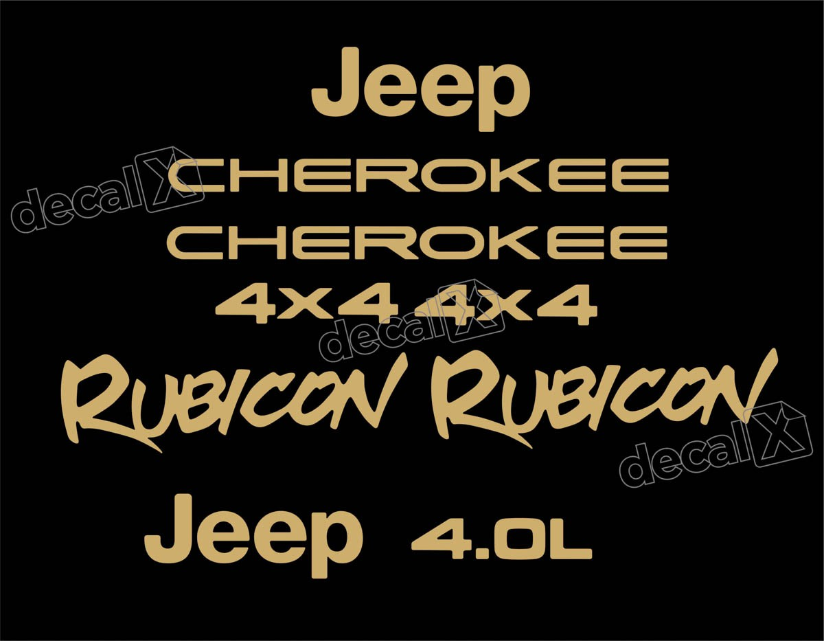 Kit Adesivo Resinado Cherokee Rubicon 1998 Chrb081