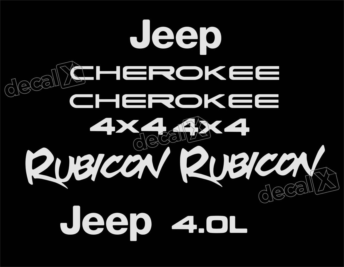 Kit Adesivo Resinado Cherokee Rubicon 1998 Chrb08