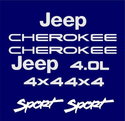 Kit Adesivo Resinado Jeep Cherokee Sport Azul Chkrs05