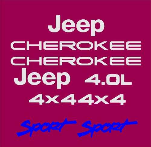 Kit Adesivo Resinado Jeep Cherokee Sport Bordo Chkrs04